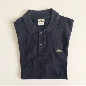 Men's Navy Lacoste Polo Short Sleeve Shirt Size L